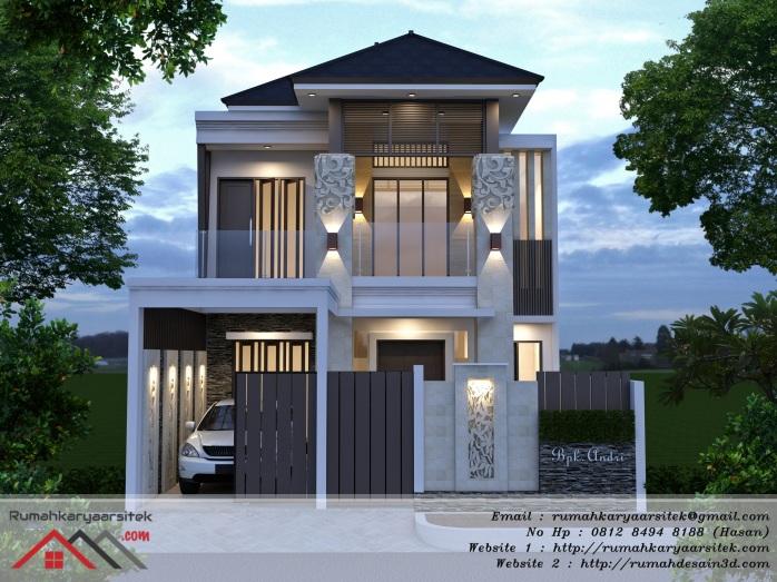 Desain Rumah Bali Lantai 2 – Bapak Andri (Tangerang)