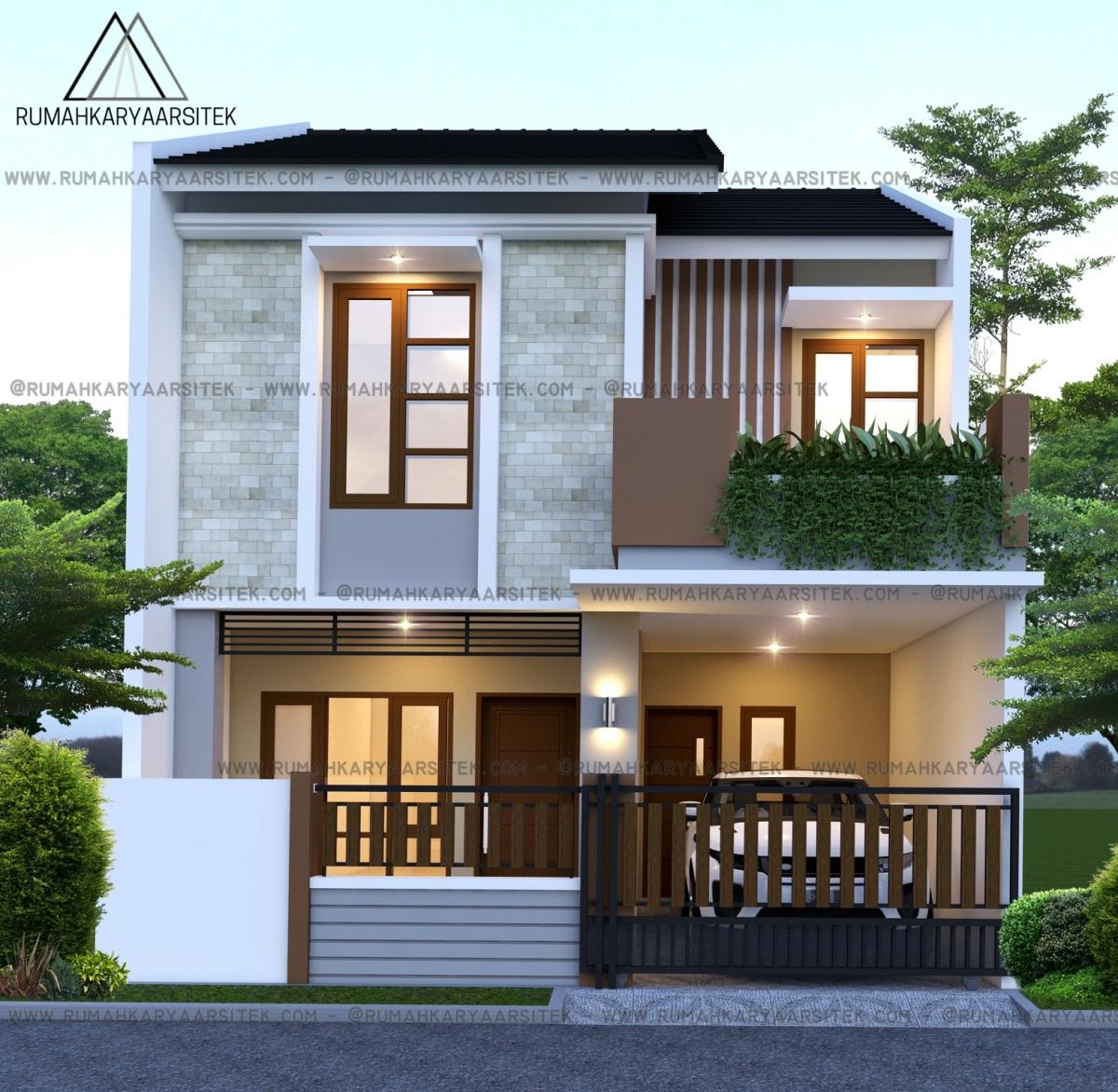 Desain Masjid Modern: Design Rumah Mr. Kadim Contractor (4)